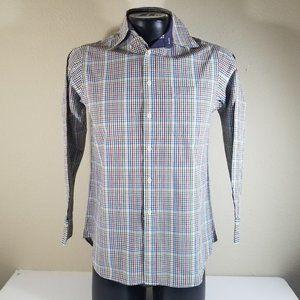 Charles Tyrwhitt Men Plaids Long Sleeve Shirt Sz S